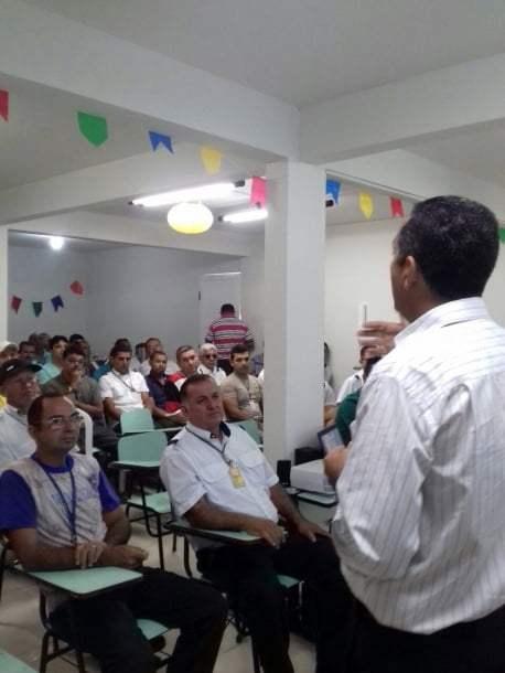 Adeilton Nascimento, gerente de tráfego da empresa fez a abertura da capacitação