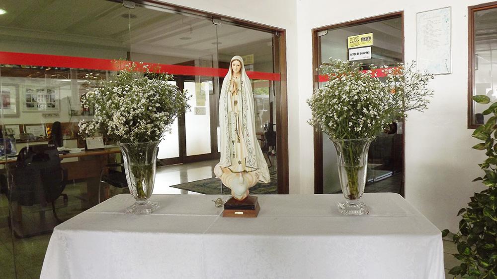 A imagem da Virgem Maria