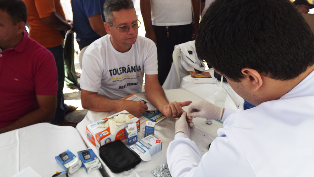 Testes de glicemia foram feitos na hora