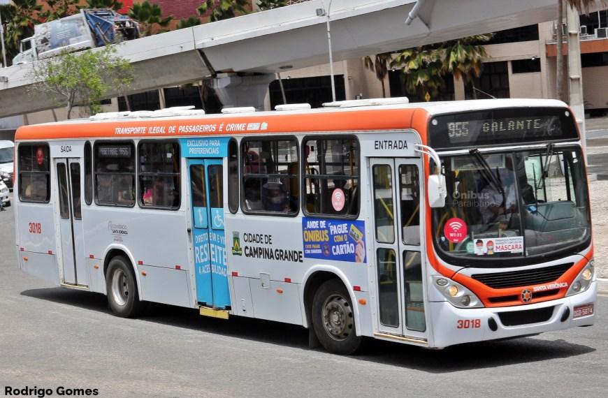 STTP amplia frota de transporte coletivo para 62% a partir desta segunda-feira em Campina Grande