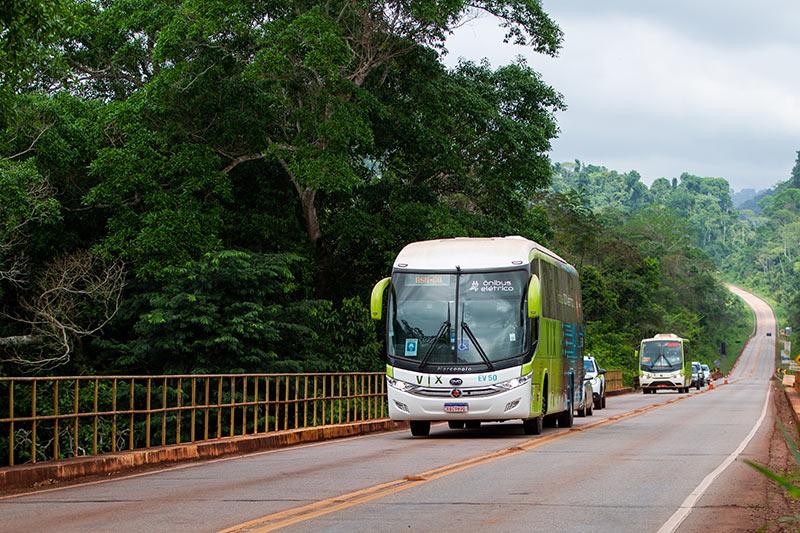 Primeiro ônibus 100% elétrico da VIX começa a circular em Parauapebas