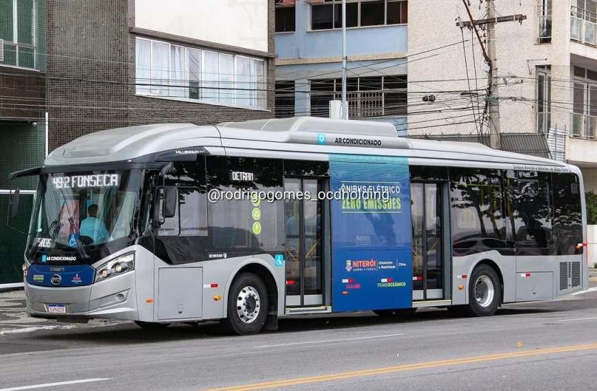 Niterói testa ônibus 100% elétrico nas linhas municipais