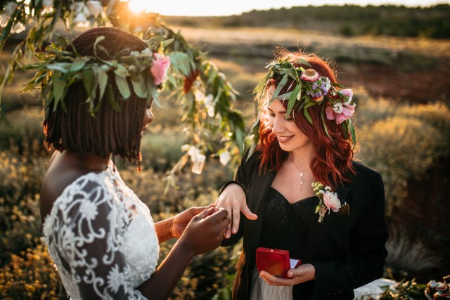 Beautiful gay Elopement Wedding Ceremony. Onie Tibbitt is an Independent Wedding Celebrants and a proud supporter of Marriage Equality.