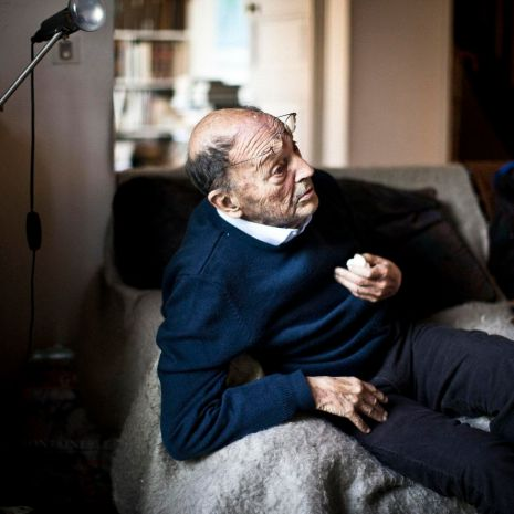 Michel Tournier, chez lui, le 15 juin 2015. Photo Edouard Caupeil 