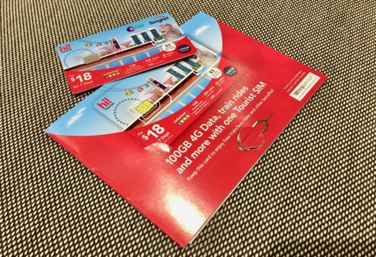 hi!Tourist EZ-Link SIM Card シンガポール