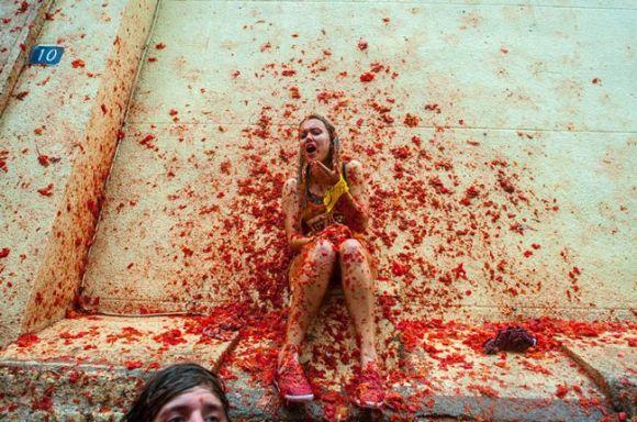 トマト祭り スペイン