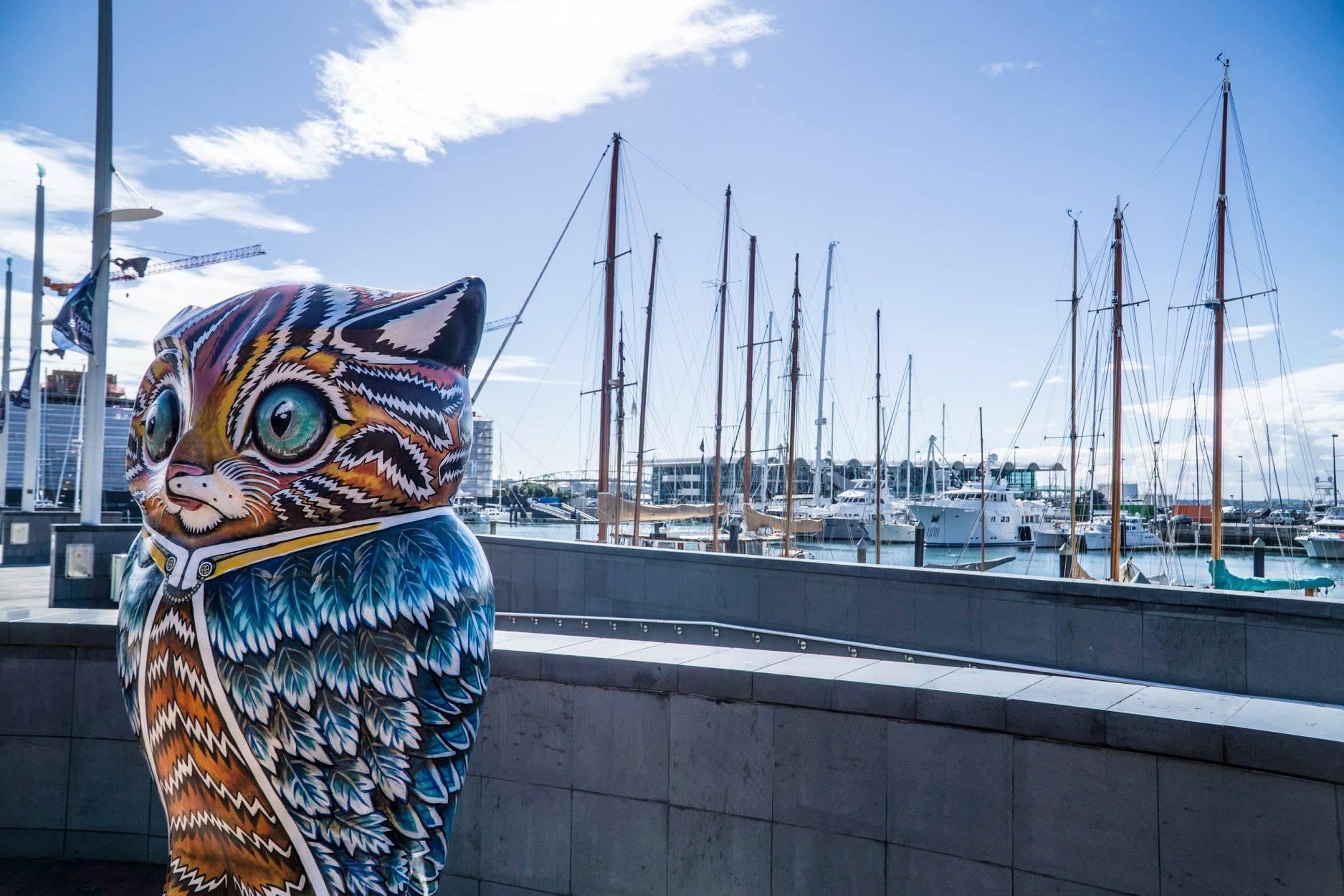 Le port d'Auckland en Nouvelle Zélande