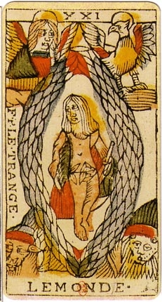 The World Tarot card and dreams about arrows