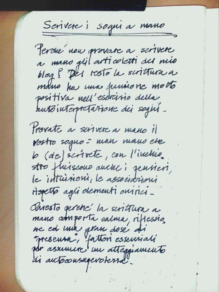 handwriting e sogni 1