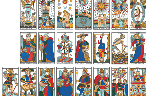 Tarot progression and Luminous entities in Tarot