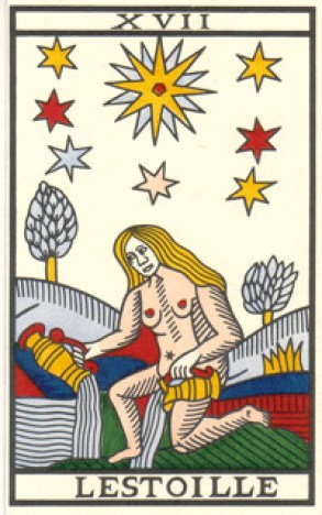 Navel symbolism in Tarot card: the Star