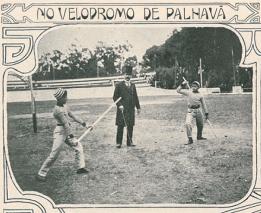 Demonstração de jogo do pau, professor Arthur dos Santos