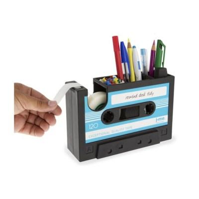 Organizador de escritorio y dispensador de celo Cinta de Cassette