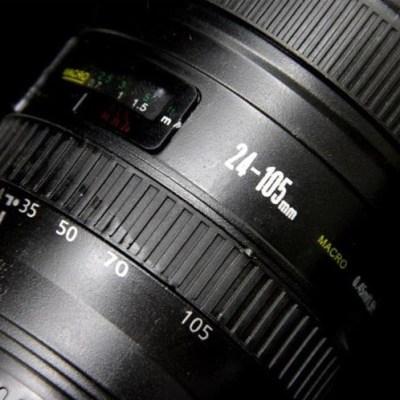 Taza térmica objetivo cámara con lente azul