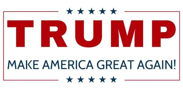 Ingen har väl missat Trumps slogan i presidentvalen?