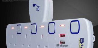 extension plug dan sockets usb