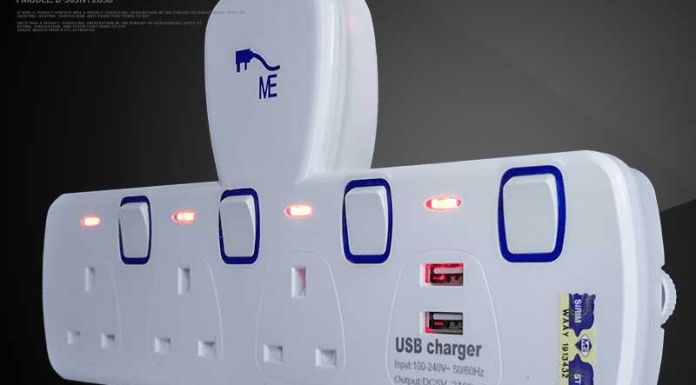 extension plug dan sockets usb