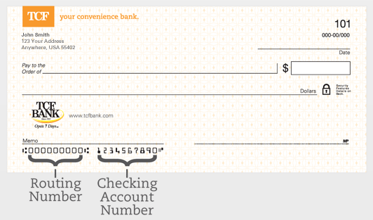 TCF Bank Routing Number And Wiring Instructions