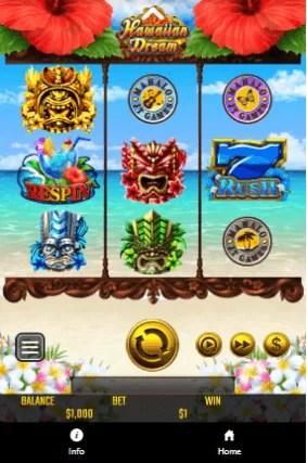 ベラジョンカジノスマホ版のプレイ画面