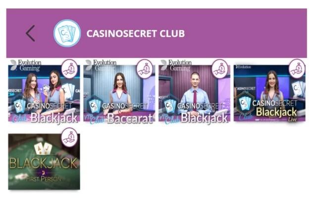 カジノシークレット限定ライブカジノの画像