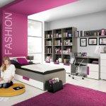 Forte Libelle 2 Teiliges Jugendzimmer Weiss Grau Violett Mobel Letz Ihr Online Shop