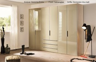 Nolte Horizont 10500 Kleiderschrank Glas samtbraun   Möbel Letz   Ihr Online Shop