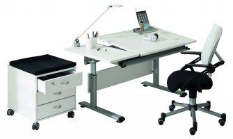 Paidi Marco 2 130 GT Schreibtisch weiß   Platte geteilt ...
