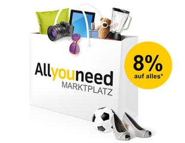 Allyouneed 8% Gutschein