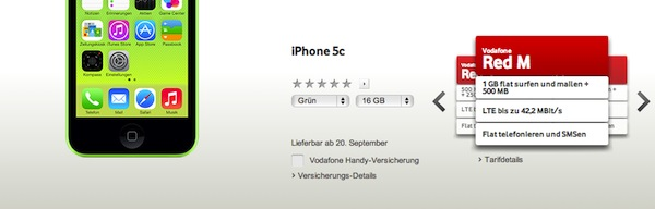vodafone iphone 5c