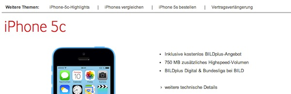 vodafone iphone 5c aktion