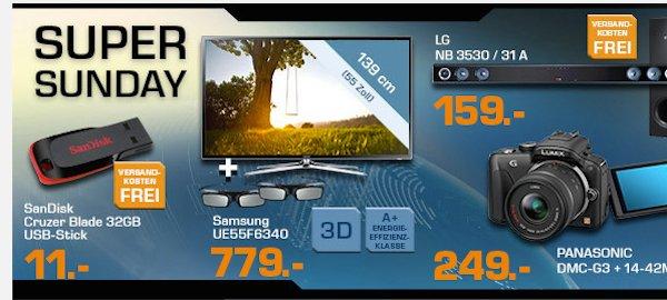 saturn super sunday Samsung UE55F6340