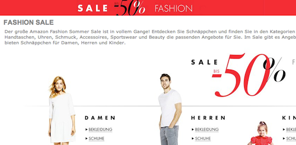 amazon fashion summer sale 2014