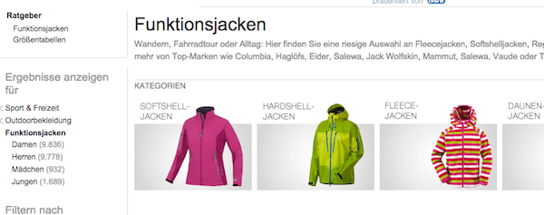 amazon funktionsjacken rabatt