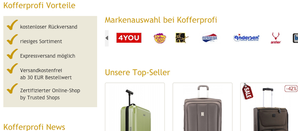 kofferprofi de sale 50 prozent rabatt