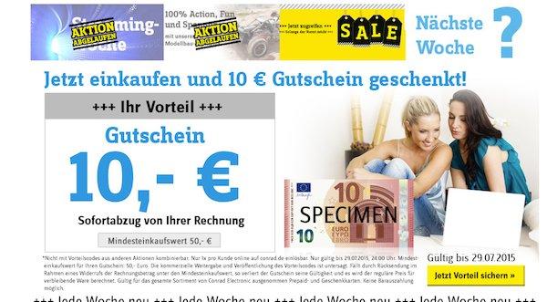 conrad 10 euro gutschein
