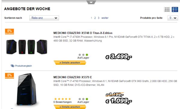 medion 200 euro rabatt high end gaming