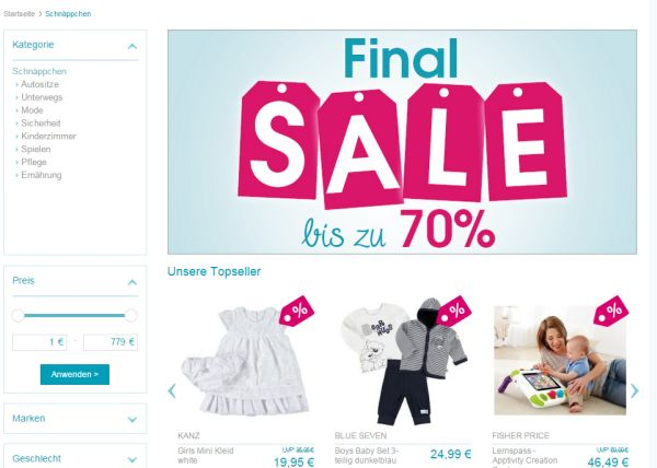 babymarkt final sale 70 prozent rabatt