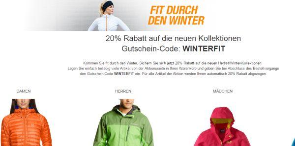amazon 20 prozent gutschein rabatt winterkleidung