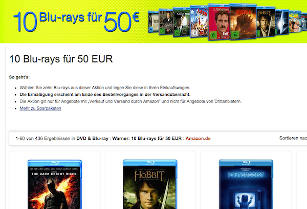amazon 10 blu rays 50 euro