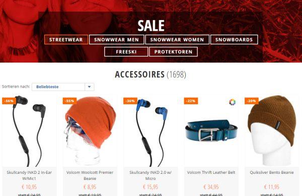 blue tomato accessoire sale 50 prozent rabatt