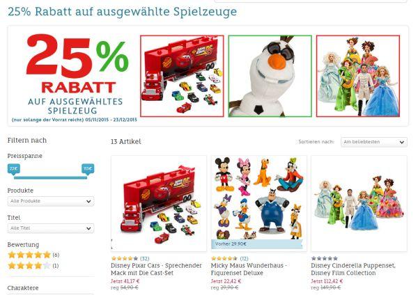 disney store 25 prozent gutschein spielzeug
