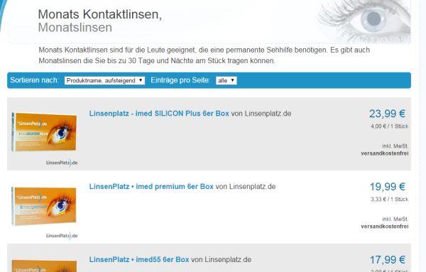 linsenplatz 10 prozent gutschein monatslinsen rabatt
