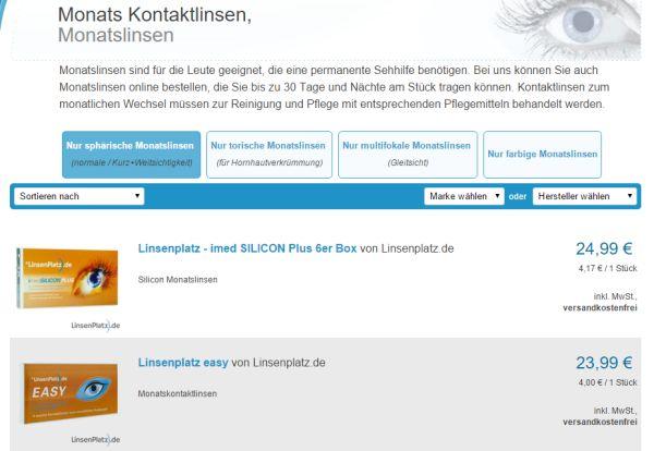 linsenplatz 8 prozent gutschein monatslinsen rabatt