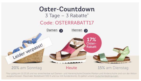 mirapodo oster countdown rabatt