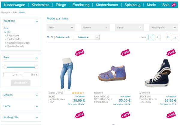 babymarkt mode sale 70 prozent rabatt