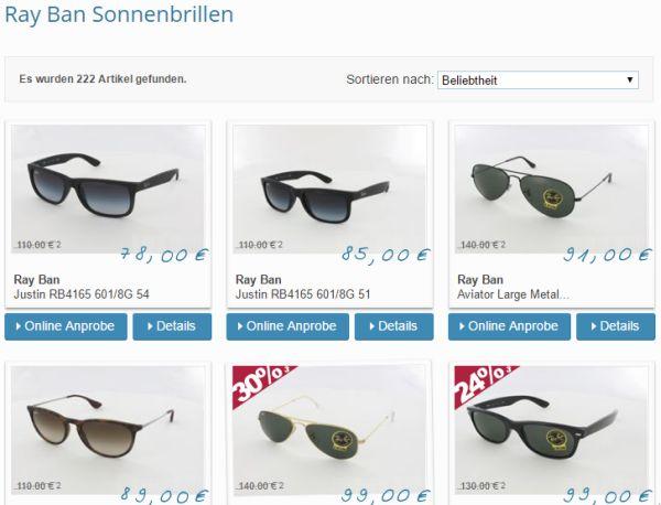 brillenplatz gutschein 10 prozent rabatt ray ban