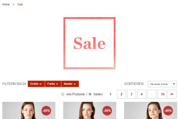 street one sale 30 prozent rabatt