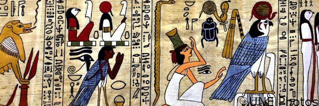 Egyptian scroll were scroll intensive