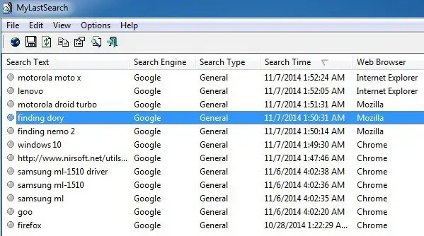 Quickly View Search History Across All Browsers In Windows