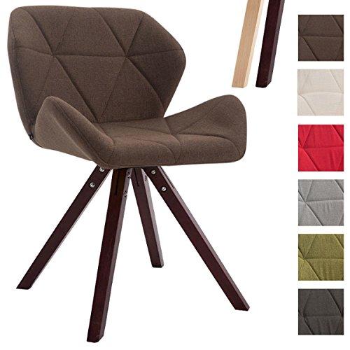 CLP Design Retro-Stuhl TYLER, Bein-Form square, Stoff-Sitz ...